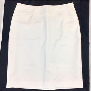 Halogen White Pencil Skirt